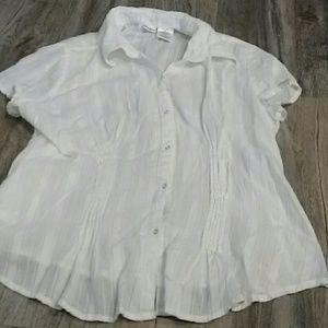 Button Down White Cotton XXL